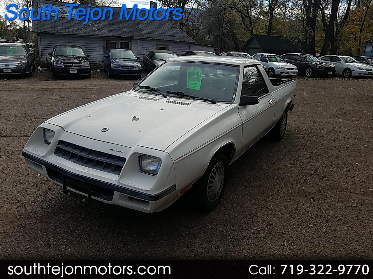 1983 Plymouth Scamp $995